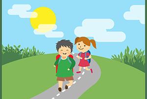 Polovina žáků chodí do školy pěšky, někteří i na koloběžce