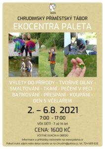 Ekocentrum Paleta Chrudim zve vaše děti ve věku 7–14 let na příměstský tábor